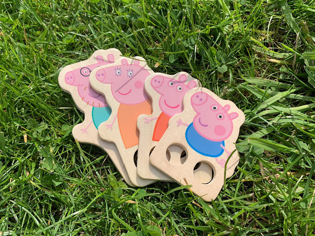 Family of Peppa Pig Wooden Finger Puppets