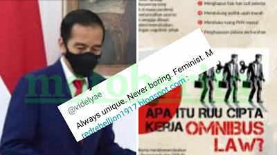 jokowi meluruskan hoaks aksi demo tolak omnibus law
