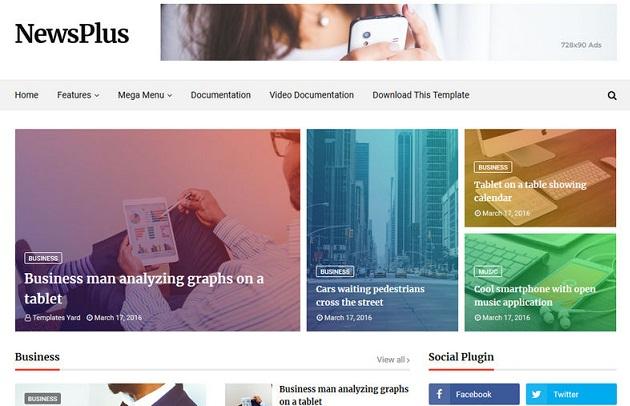 NewsPlus SEO Optimized Blogger Templates
