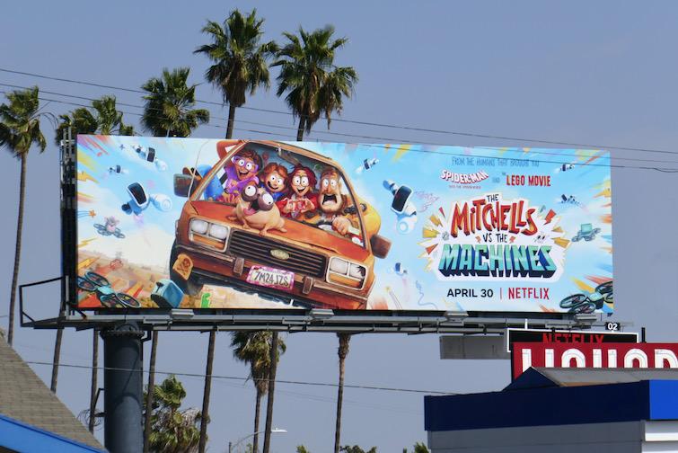 Mitchells vs the Machines movie billboard