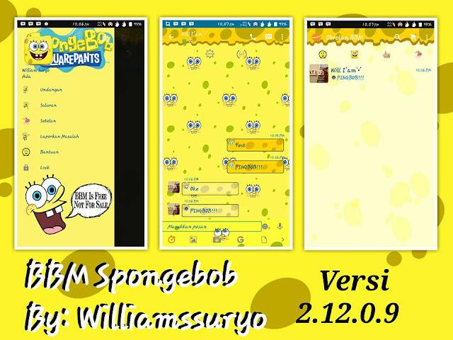 BBM Mod Spongebob v2.12.0.9 APK Android 2016
