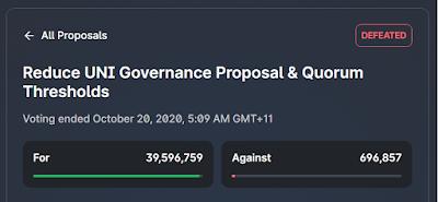 prima votazione di uniswap