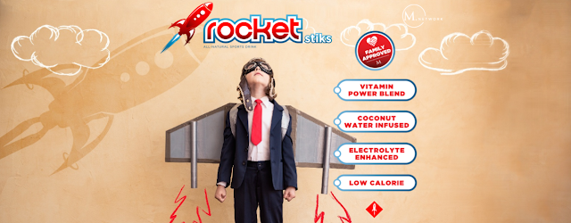 Rocket Stiks Sports Drink- M Network Kids Hydration Stiks
