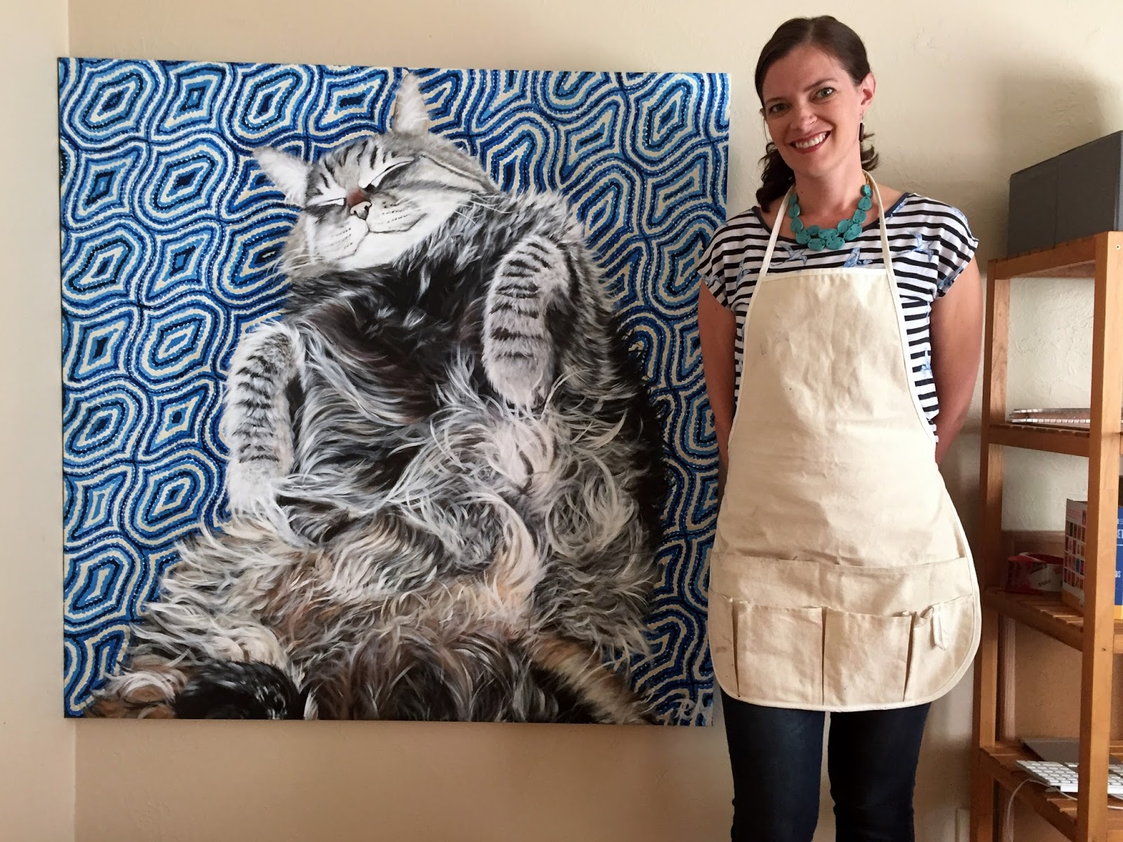 Rachelle with the final Sammy painting