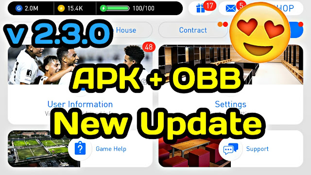 Download New Update V 2.3.0 PES 2018 Mobile (Android/IOS)