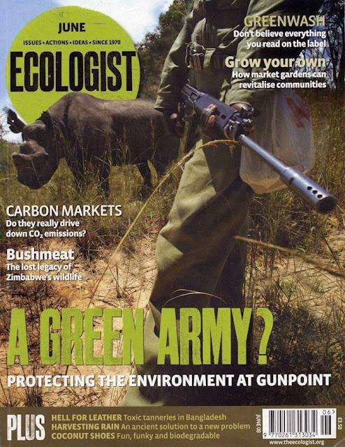 """Revista """"The Ecologist"""", capa de junho de 2008"""