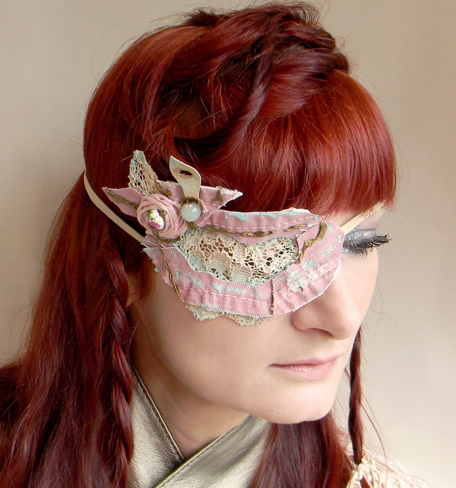 Unique Jewelry Fashion Eyewear Eye Patch Headband Handmade Shabby Fashion