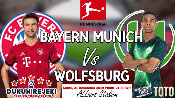 Prediksi Bayern Munich vs Wolfsburg 21 Desember 2019