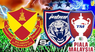Live Streaming JDT FC vs Selangor Piala Malaysia 9 September 2017