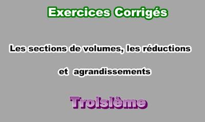 Exercices Corrigés Sur Les Sections de Solides 3eme en PDF