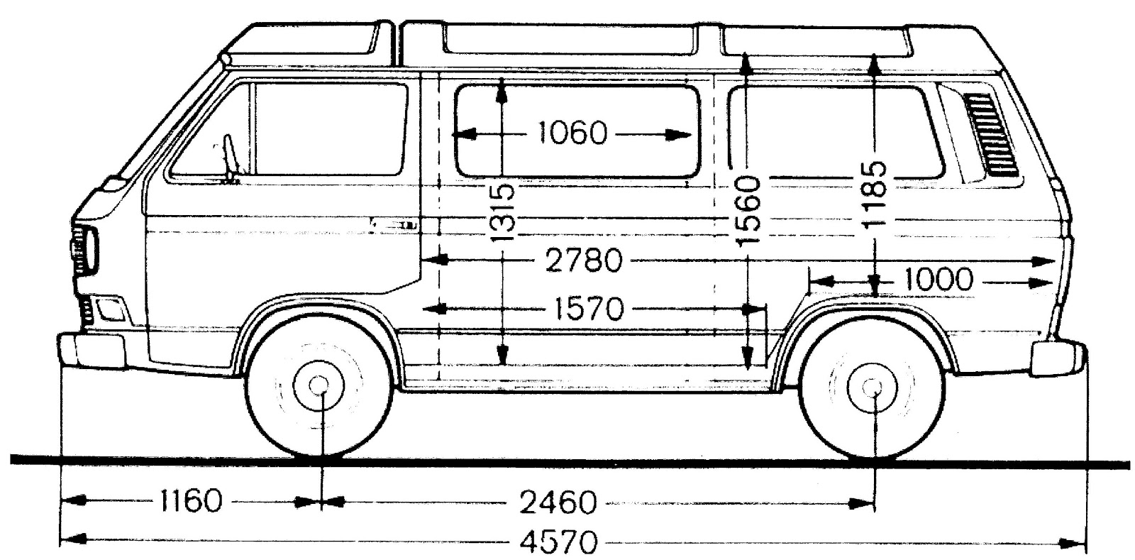 Vanagon Westfalia Interior Dimensions