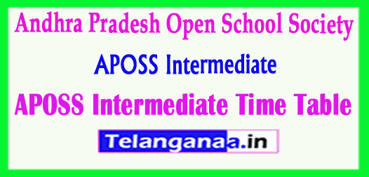 APOSS Intermediate Time Table