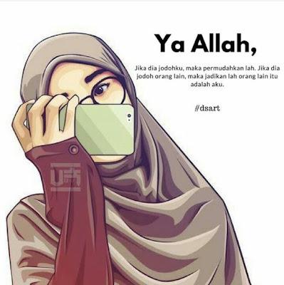 Kartun Muslimah Bercadar Soal Jodoh
