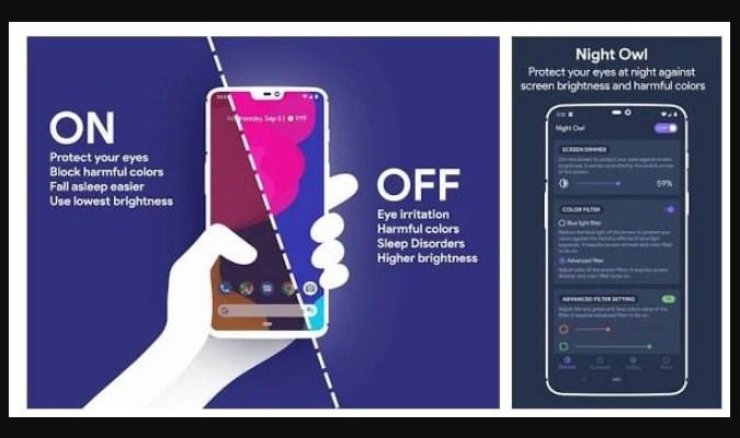 Aplikasi Filter Sinar Biru untuk Android - Night Owl
