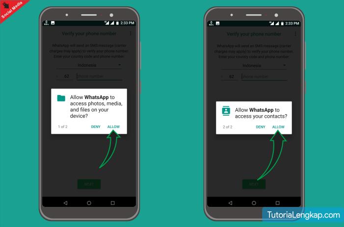 cara membuat akun whatsapp di android