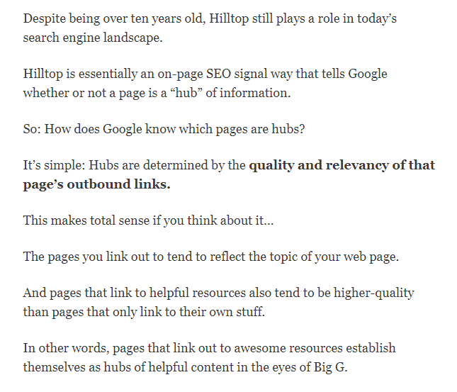 external links on seo