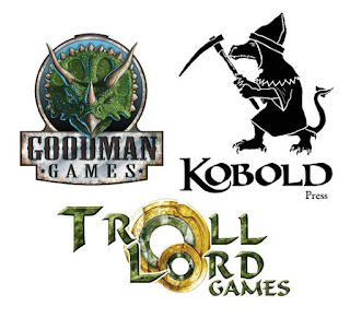Goodman Games, Troll Lord Games, Kobold Press