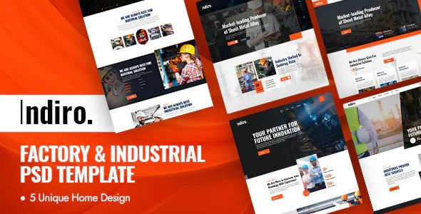 Best Factory and Industrial PSD Template