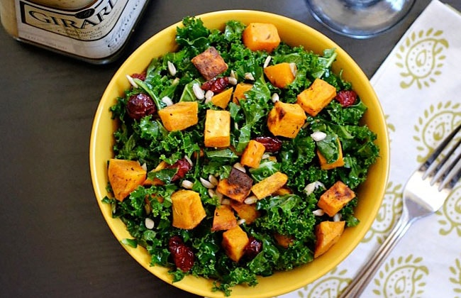 Sweet potatoes leaf salad