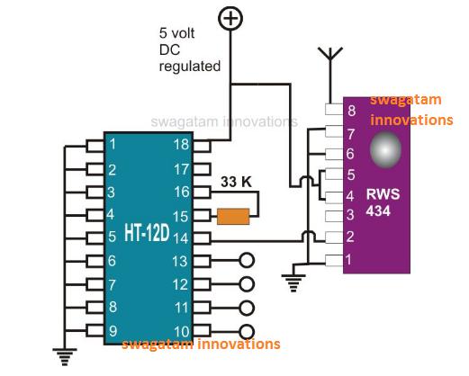 433MHz RF Receiver Module Pinouts