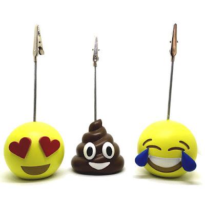Kit 3 emojis porta retrato apaixonada cocozinho chorando de rir