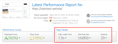 web statistics performance report