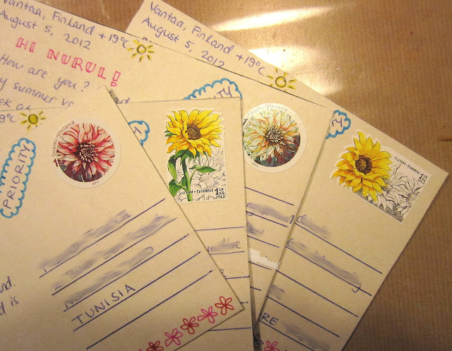 handmade postcards