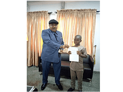 Eight-year-old boy donates savings to fight COVID-19 in Kwara