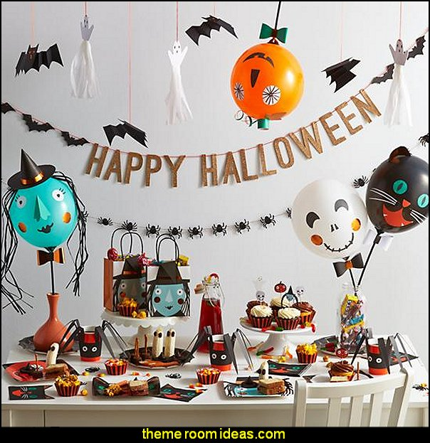 Halloween Party Collection  Halloween decorations - Halloween decorating props - Halloween theme - Halloween decorating ideas - Halloween decor - wall murals halloween haunted mansion - lifesize standing halloween figures - halloween bedding -