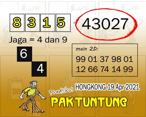 Syair HK Senin 19 April 2021 -