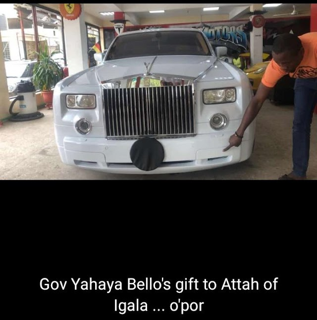 Kogi Election: Attah Igala Receives Rolls Royce Phantom From Gov Yahaya Bello