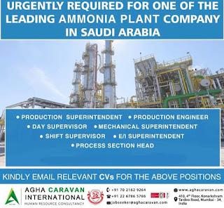 Ammonia Plant Company jobs in Saudi Arabia