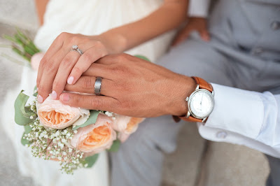Pareja de novios ya casados