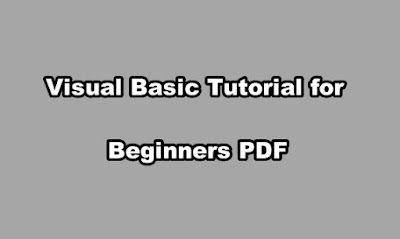 Visual Basic Tutorial for Beginners PDF