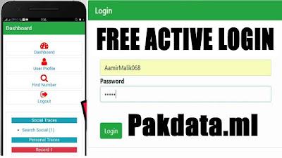 Pakdata. ml APK Sim Database Live Tracker
