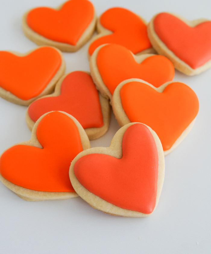 Comparing Orange Food Colorings for decorating cookies