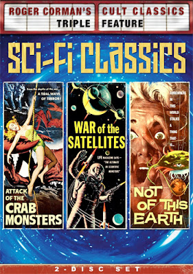 Cover art, Shout Factory's Roger Corman Sci-Fi Triple Feature DVD set