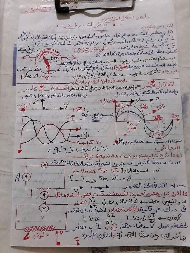 ملخص بسيط - قوانين الفيزياء للصف الثالث الثانوي في 10 ورقات - صفحة 2 8