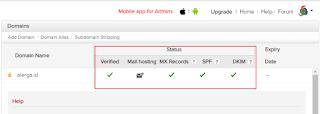 penyempurnaan settingan email pada custom domain blogger