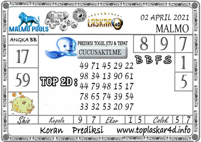 Prediksi Togel MALMO LASKAR4D 02 APRIL 2021