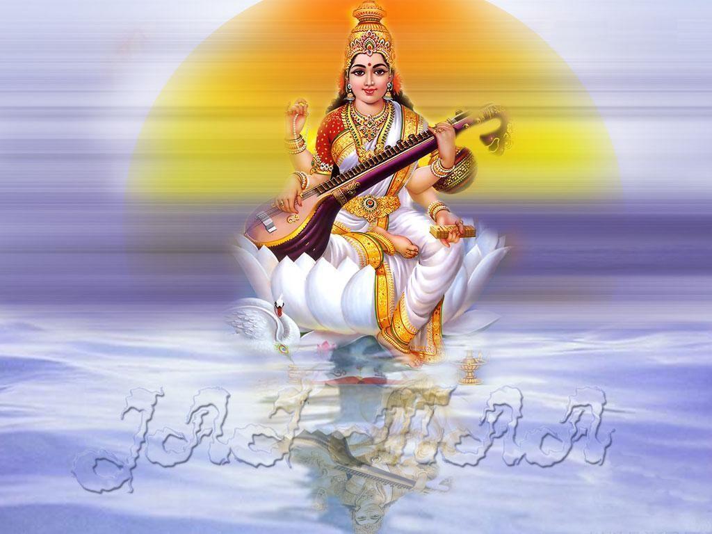 Maa Saraswati 3d Wallpaper 2013 Saraswati Hd Wallpaper God Wallpaper Hd