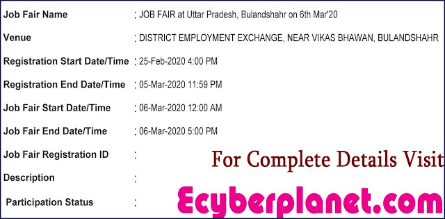 Bulandshahr Rojgar Mela Notification