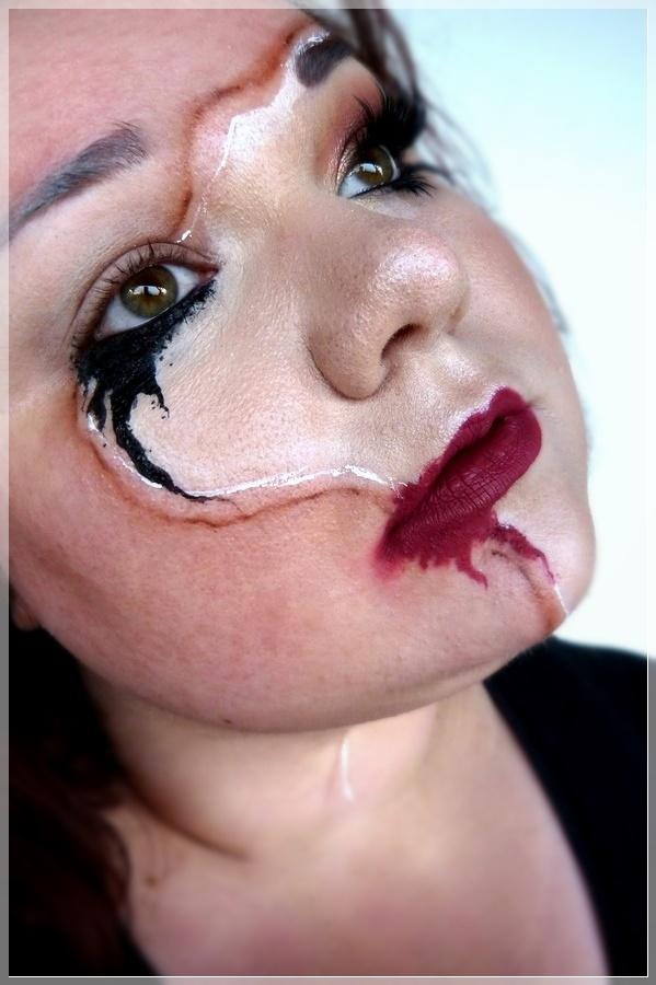 verlaufenes Makeup