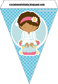Spa Party Free Printable Banner.