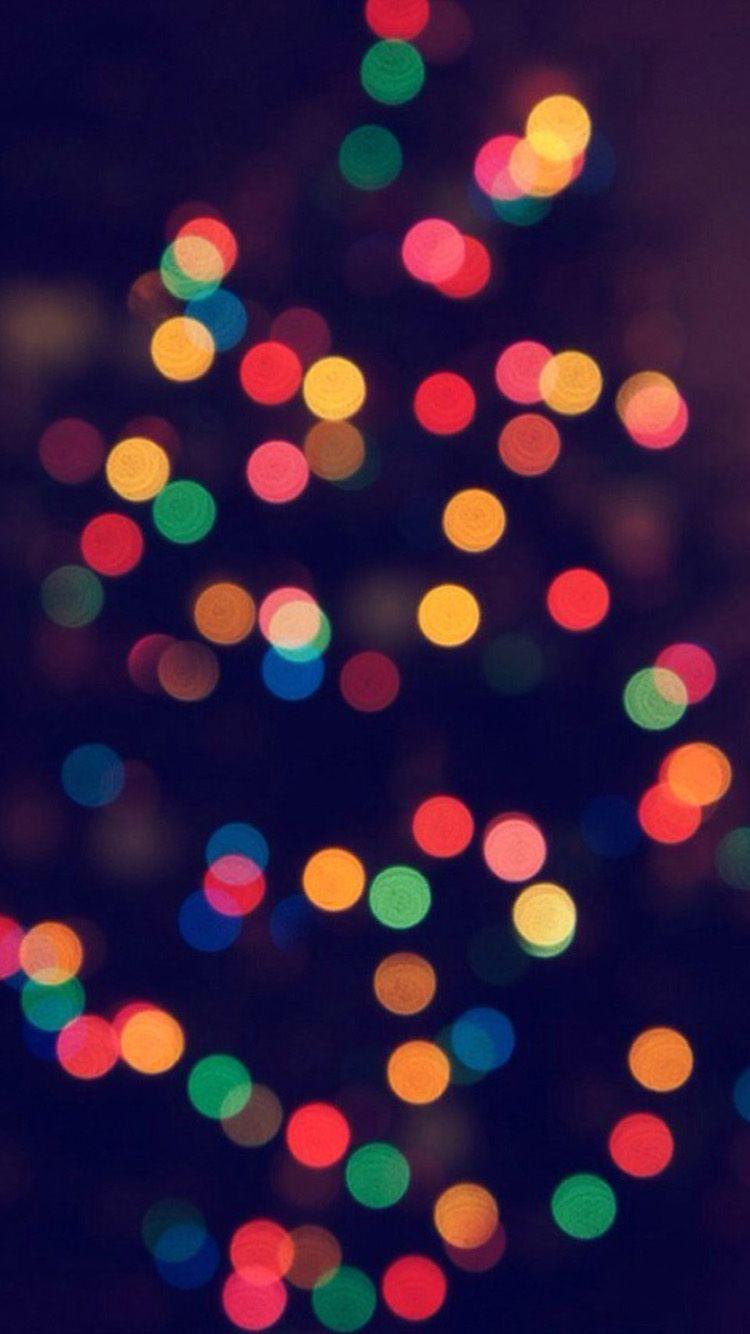 Christmas Bokeh HD Wallpaper for iPhone