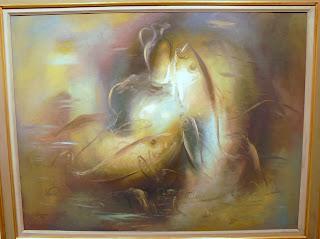 το έργο Ψάρι και κανάτι σε θαλασσινό τοπίο του Γιώργου Γουναρόπουλου στην Εθνική Πινακοθήκη