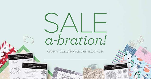 Crafty Collaborations SALE-a-bration Blog Hop banner