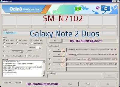 سوفت وير هاتف Galaxy Note 2 Duos موديل SM-N7102 روم الاصلاح 4 ملفات تحميل مباشر
