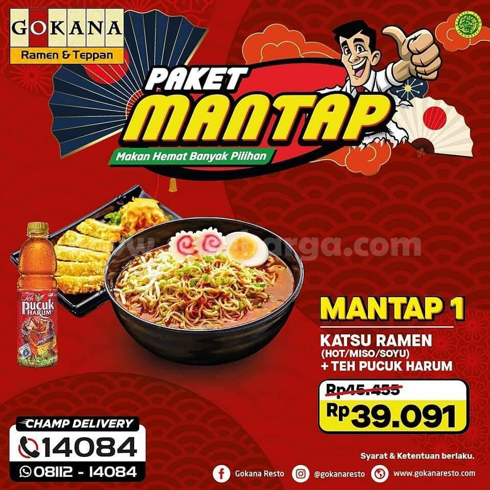 GOKANA PAKET MANTAP! Promo Makan Hemat mulai 39Ribuan