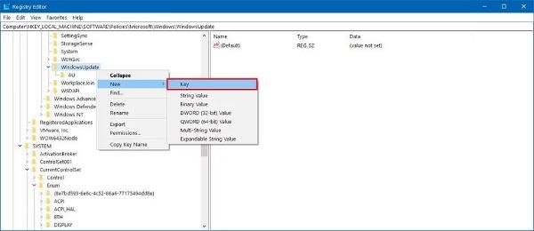 au_key_disable_windows_update_regedit